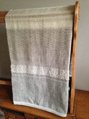 handwoven wool blanket by Gently Woven