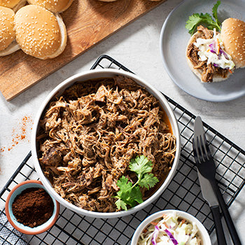 Coffee-Rubbed Slow Cooker Pork Sliders