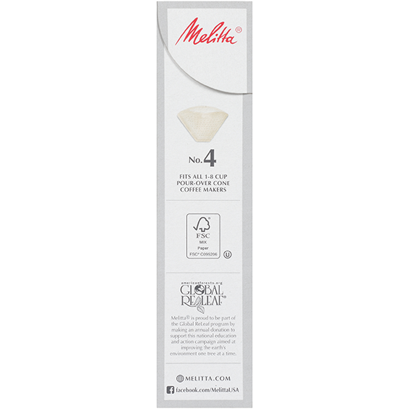 Melitta No. 4 Pour-Over Coffee Filters