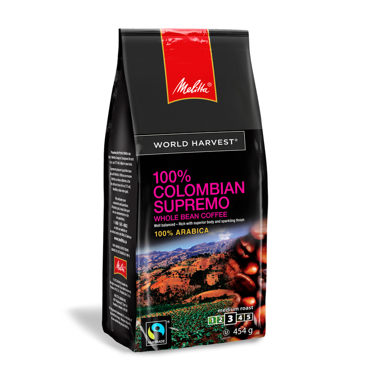 100% Colombian Supremo Whole Bean 454g
