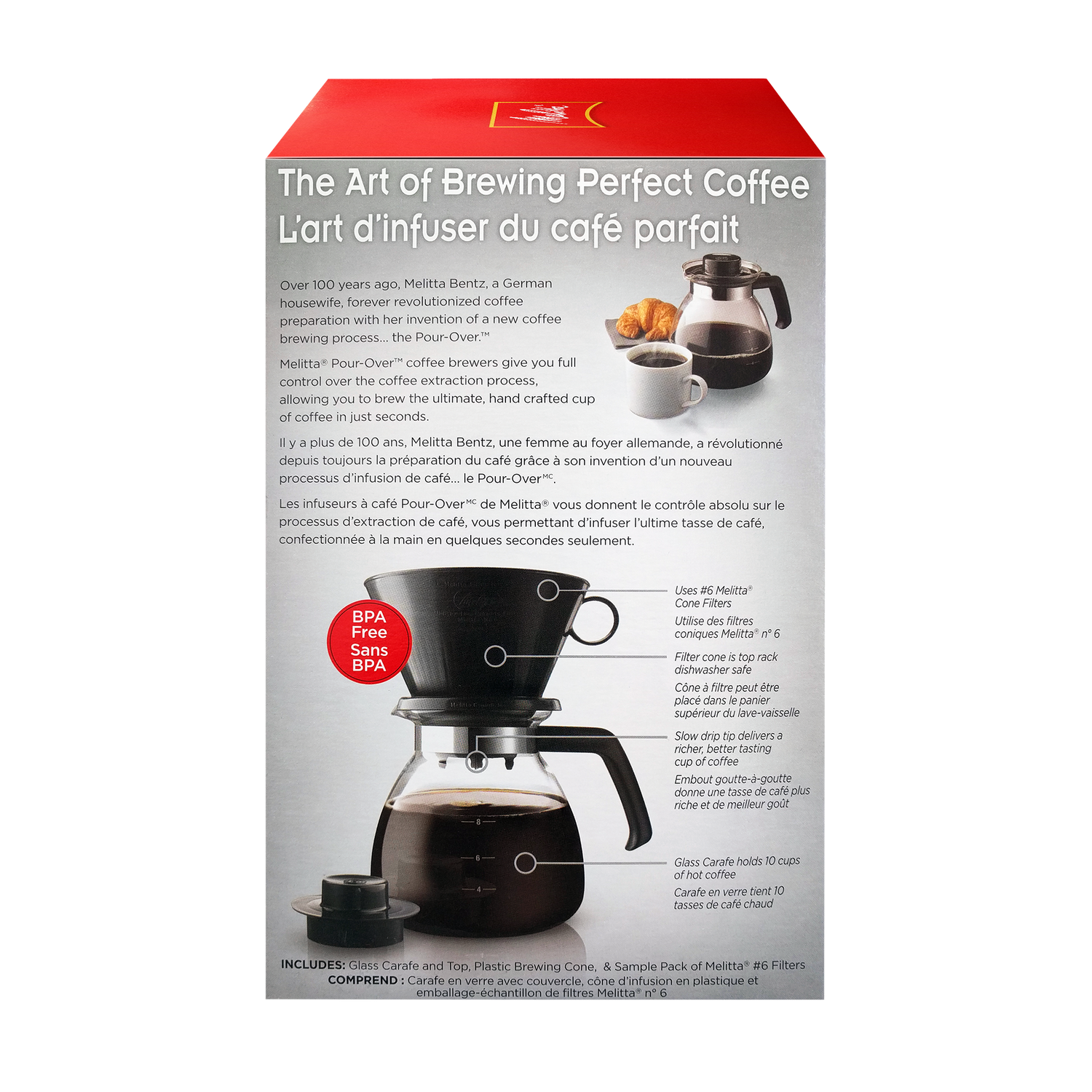 10 Cup Manual Pour Over Coffeemaker Melitta Canada