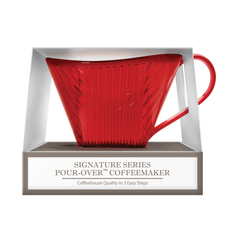 Signature Series Shatter- Resistant Pour-Over™ Coffeemaker   - Red, 1 Cup