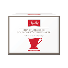 1 Cup matte Red Porcelain Signature Series Pour-Over™ Coffeemaker