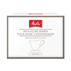 Signature Series Porcelain Pour-Over™ Coffeemaker   - White, 1-Cup