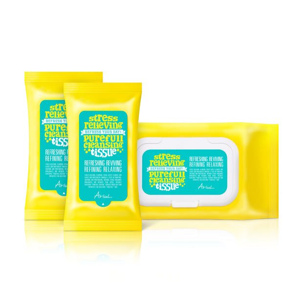 Ariul Natural Makeup Removal Cleansing Wipes, Stress Relieving Purefull Cleansing Tissue