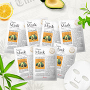 Ariul Natural Avocado Sheet Mask Pack, 7 Days Mask Set Avocado Natural Nutrient & Protection Sheet Mask
