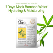 Ariul Natural Bamboo Water Sheet Mask Pack, 7 Days Mask Bamboo Water Natural Hydrating & Moisturizing Sheet Mask