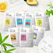 Ariul Natural Sheet Mask Pack, 7 Days Mask Set Natural Sheet Mask with FREE Stress Relieving Purefull Cleansing Tissue