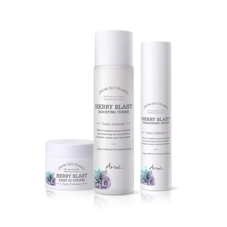 Ariul Facial Face Toner, Serum, Cream Skincare Set, Berry Blast Skincare Set for Skin Repair, Tightening, and Whitening