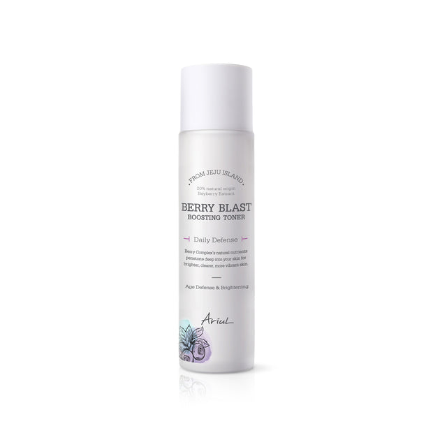 Ariul Facial Face Skin Toner Moisturizer, Berry Blast Boosting Toner - Tightening, Toning, Skin Protecting Booster with 20% Natural Bayberry Extract