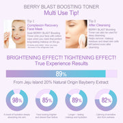 Ariul Facial Face Skin Toner Moisturizer, Berry Blast Boosting Toner - Brightening & Tightening Test Trial