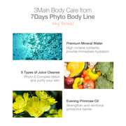 Ariul 7 Days Phyto Body Contains Premium Mineral Water, 6 Types of Natural Juice Cleanse, Evening Primrose Oil