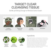 Ariul Wet Cleansing Wipe Tissue, Bath Wipe - Target Clear Cleansing Tissue, Natural Surfact Strong Enough to Remove Camo Cream
