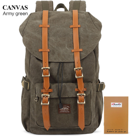 KAUKKO Handmade Green Canvas Premium Backpack (SB970) , KAUKKO SB970