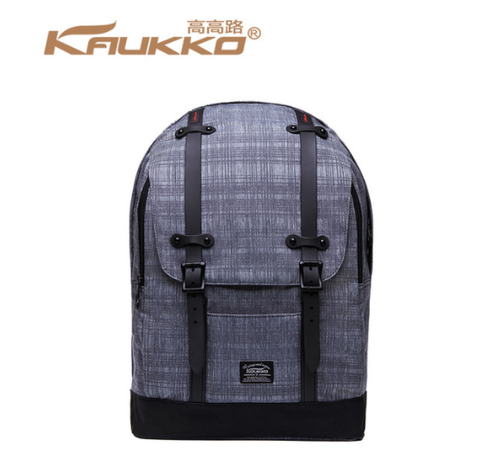 KAUKKO CITY OXFORD PREMIUM GRAY BACKPACK (SB9965)