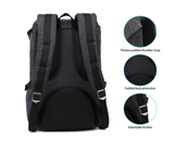 KAUKKO Handmade Black Canvas Premium Backpack (SB9969)