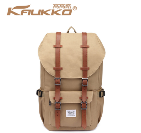 KAUKKO Oxford Premium Light Brown Backpack (SB9973)