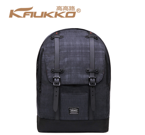 KAUKKO City Oxford Premium Black Backpack (SB9975)