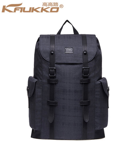 KAUKKO 30L Waterproof Premium British Black Backpack (SB9980)