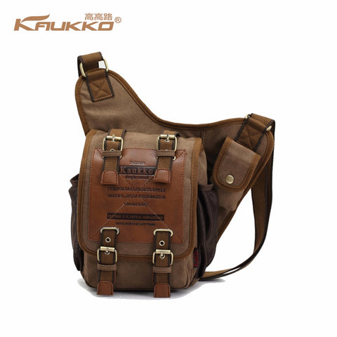 KAUKKO Canvas Brown Crossbody Messenger Bag (SB1) , KAUKKO SB1