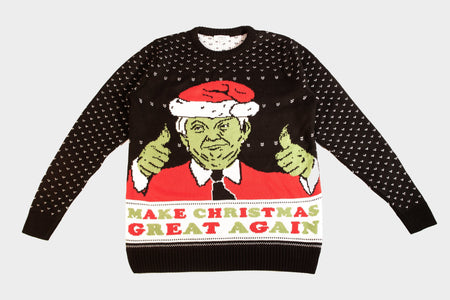 Donald Trump Christmas Jumper - The Grinch