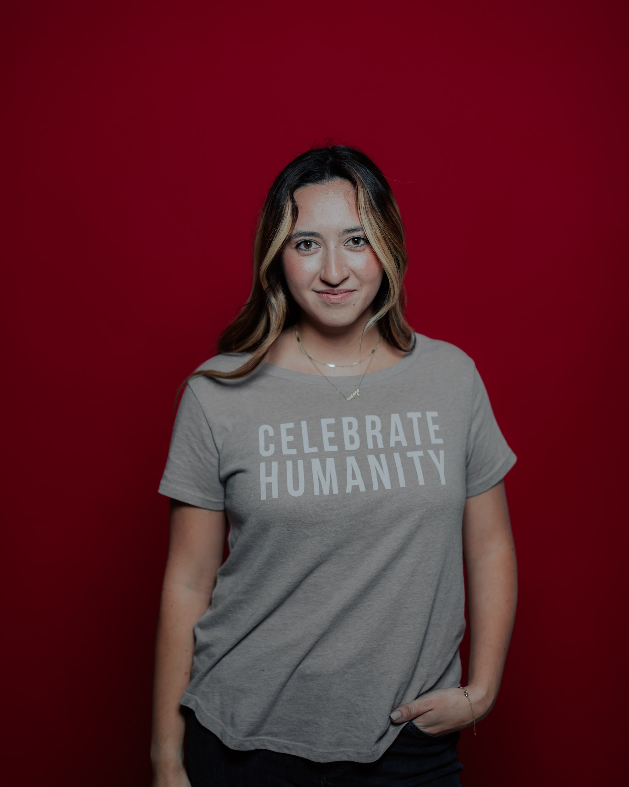 Celebrate Humanity Scoop Neck Tee