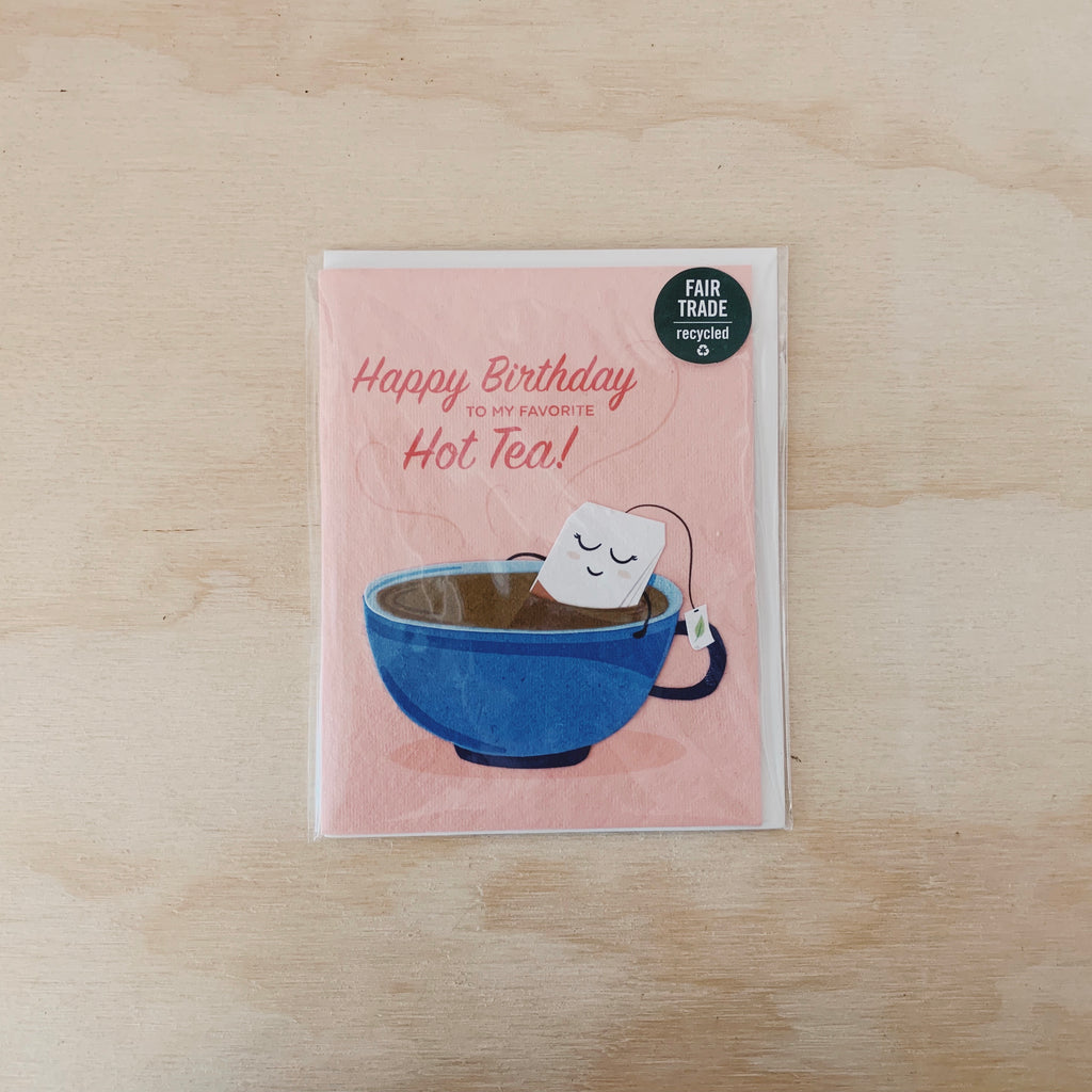 Hot Tea Birthday Card