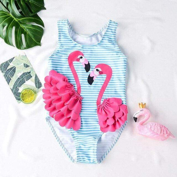 Maillot de Bain Flamant Rose Fuschia - Mon Little Baby