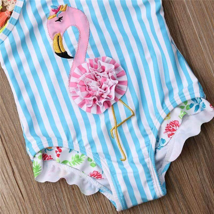 Maillot de Bain Flamant Rose Rayures - Mon Little Baby