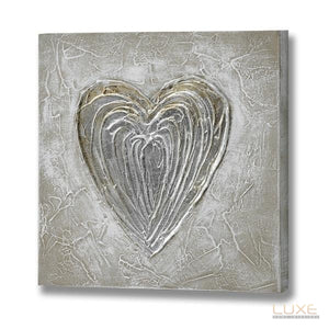 Textured Heart Canvas - LUXE Home Interiors
