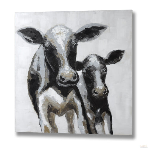 Cow and Calf Canvas