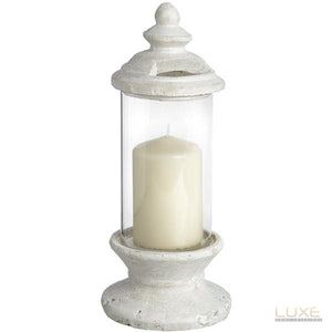 Glass candle holder - LUXE Home Interiors
