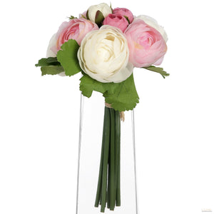 Pink and white camellia bouquet