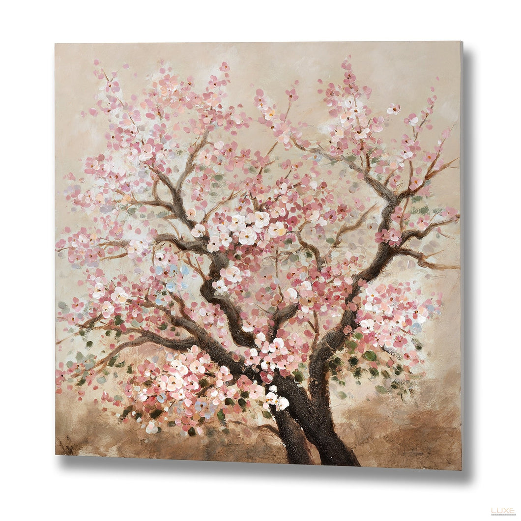 Pink Blossom Oil Painting - LUXE Home Interiors