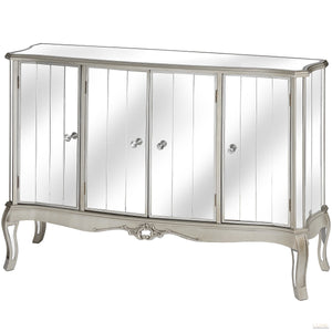 Argente Mirrored 4 Door Sideboard
