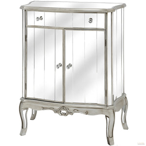 Argente Mirrored  One Drawer Two Door Cabinet - LUXE Home Interiors