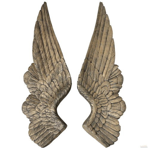 Set of 2 Gold Angel Wings Decoration - LUXE Home Interiors