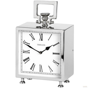 Square Nickel Table Clock - LUXE Home Interiors