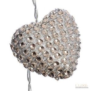 Sparkly Heart String Lights - LUXE Home Interiors