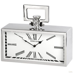 Silver Pocket Watch Clock - LUXE Home Interiors