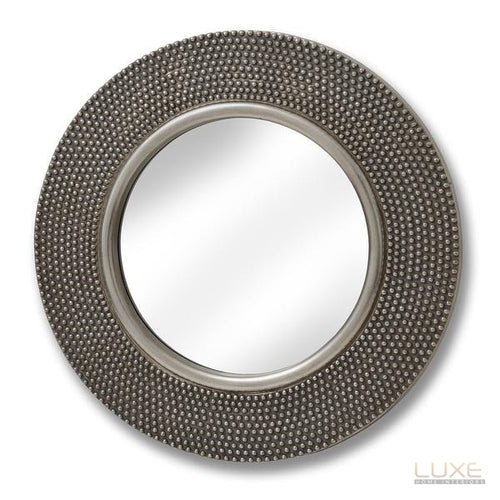 Large Circular Beaded Mirror - LUXE Home Interiors