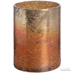 Copper Ombre Metallic Glass Medium Candle Holder - LUXE Home Interiors