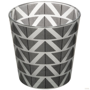 Grey And White Geometric Tealight Holder - LUXE Home Interiors