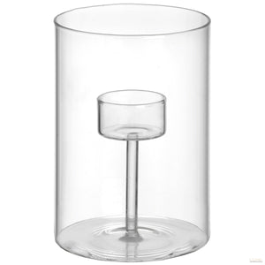 Tall Single Glass Tealight Holder - LUXE Home Interiors