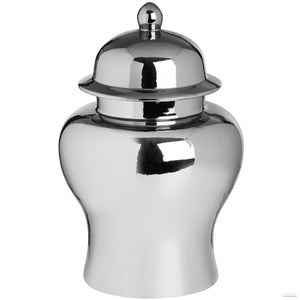Large Silver Ceramic Urn - LUXE Home Interiors