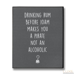 Pirate Rum Plaque