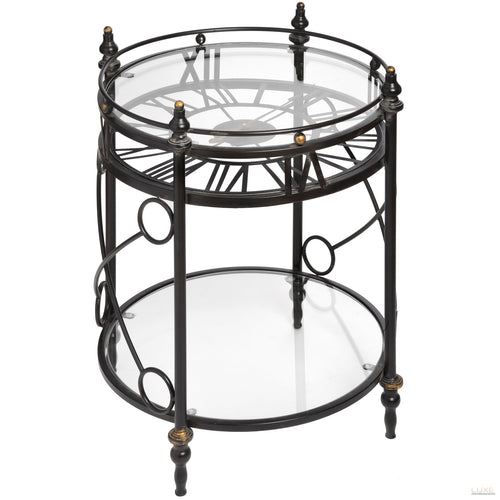 Clock Side Table - LUXE Home Interiors