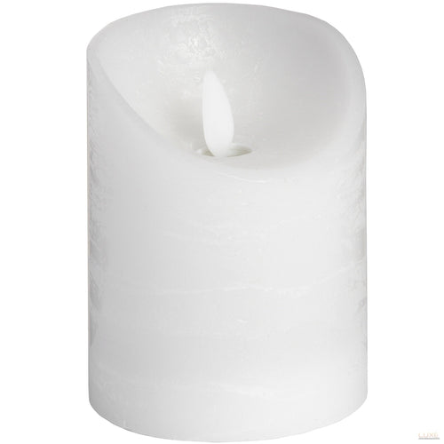 3 x 4 White Flickering Flame LED Wax Candle - LUXE Home Interiors
