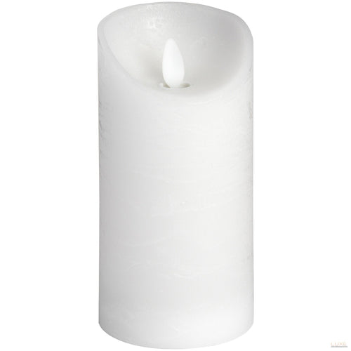3 x 6 White Flickering Flame LED Wax Candle - LUXE Home Interiors