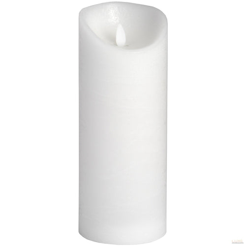 3.5 x 9 White Flickering Flame LED Wax Candle - LUXE Home Interiors